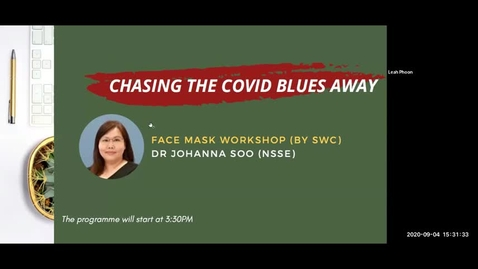 Thumbnail for entry Chasing the COVID Blues Away #1: Face Mask Workshop