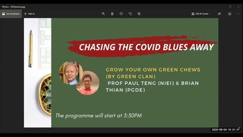 Thumbnail for entry Chasing the COVID Blues Away #2 - Grow your own green chews