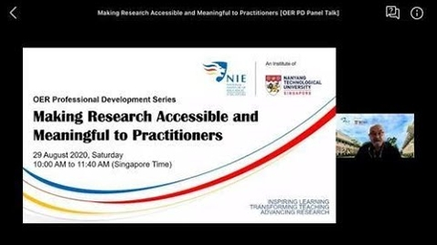 Thumbnail for entry OER Professional Development Series: Making Research Accessible and Meaningful to Practitioners